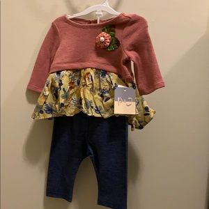 Pippa & Julie 2 Piece outfit 3-6 Mos. NWT